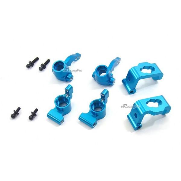 Alloy Front/Rear Kunckle Arm + C-Hub for HPI Sprint 2(Blue