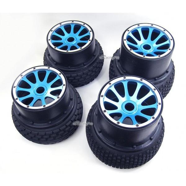 Alloy Front Rear Wheel Rim Spoke Radial Tire For Hpi Baja B B Ss Blue