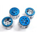 Alloy Beadlock Weighted Wheels for Tamiya Land Cruiser (Blue)