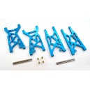 Alloy Front+Rear Lower Suspension Arm Fit Team Losi 8IGHT Race Buggy (Blue)