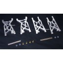Alloy Front+Rear Lower Suspension Arm Fit Team Losi 8IGHT Race Buggy (Silver)